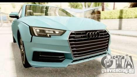 Audi A4 TFSI Quattro 2017 для GTA San Andreas вид сбоку