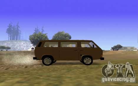 Volkswagen Transporter T-3 Armenian для GTA San Andreas вид сверху