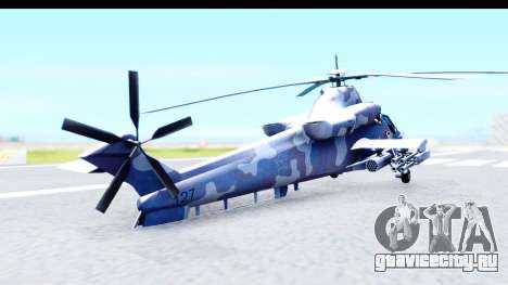 Denel AH-2 Rooivalk Blue для GTA San Andreas вид слева