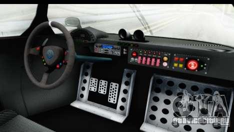 GTA 5 Annis RE7B для GTA San Andreas вид изнутри