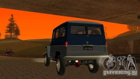 Jeep Station Wagon 1959 для GTA San Andreas вид сверху