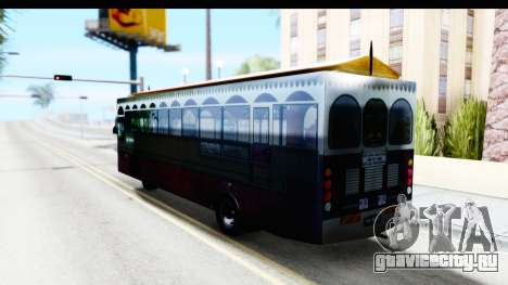 Cas Ligas Terengganu City Bus Updated для GTA San Andreas вид слева