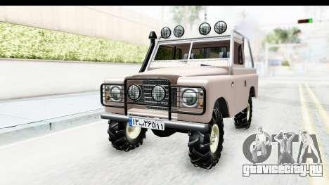 Land Rover Pickup Series3 для GTA San Andreas вид справа