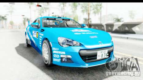 Subaru BRZ Rally для GTA San Andreas вид сзади слева