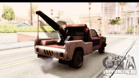 Towtruck Sticker Bomb для GTA San Andreas вид сзади слева