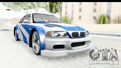 NFS: MW - BMW M3 GTR для GTA San Andreas