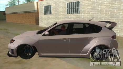 2008 Subaru WRX Widebody L3D для GTA San Andreas вид слева