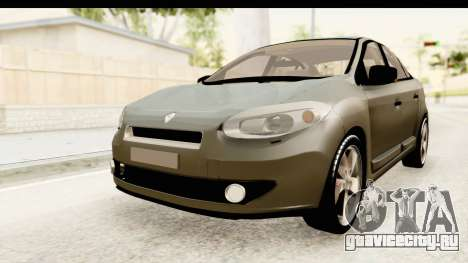 Renault Fluence v2 для GTA San Andreas вид справа