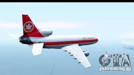 Lockheed L-1011-100 TriStar Air Canada для GTA San Andreas вид справа