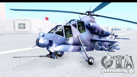 Denel AH-2 Rooivalk Blue для GTA San Andreas вид справа