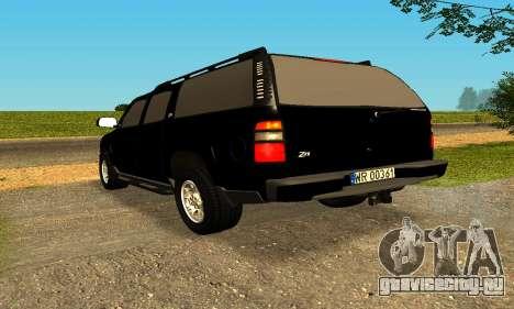 Chevrolet Colorado для GTA San Andreas вид справа