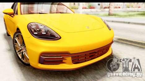 Porsche Panamera 4S 2017 v3 для GTA San Andreas вид сзади