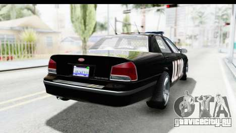 Vapid ULTOR Police Cruiser для GTA San Andreas вид сзади слева
