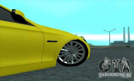 BMW 525 Gold для GTA San Andreas вид сзади