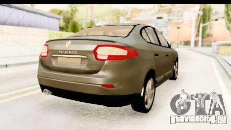 Renault Fluence v2 для GTA San Andreas вид слева