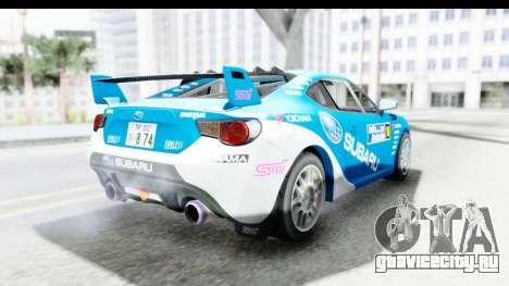 Subaru BRZ Rally для GTA San Andreas вид справа
