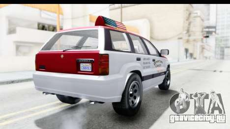 GTA 5 Canis Seminole Downtown Cab Co. Taxi для GTA San Andreas вид сзади слева