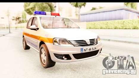 Dacia Logan Facelift Ambulanta v2 для GTA San Andreas вид справа