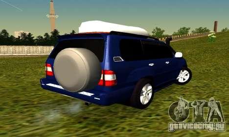 Toyota Land Cruiser 100vx2 для GTA San Andreas вид сзади слева