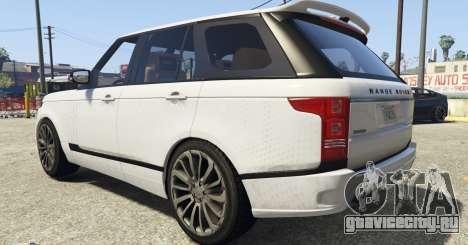 Land Rover Range Rover Startech для GTA 5 вид сзади слева