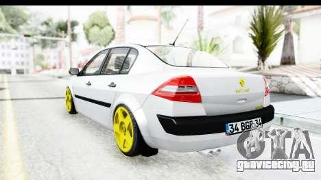 Renault Megane для GTA San Andreas вид справа