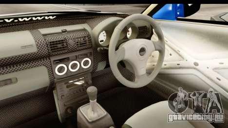 D1GP Nissan Silvia RC926 Toyo Tires для GTA San Andreas вид изнутри