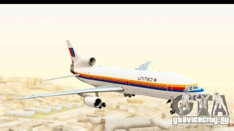 Lockheed L-1011-100 TriStar United Airlines для GTA San Andreas вид сзади слева