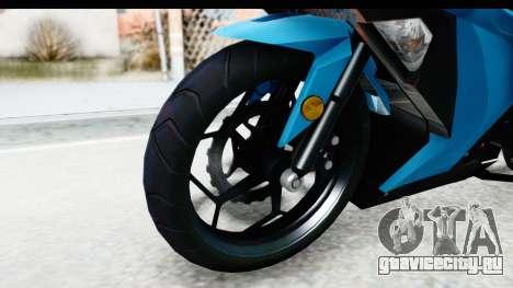 Kawasaki Ninja 300R для GTA San Andreas вид сзади