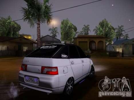 ВАЗ 2112 качественная GVR для GTA San Andreas вид изнутри