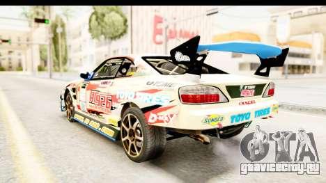 D1GP Nissan Silvia RC926 Toyo Tires для GTA San Andreas вид сзади слева