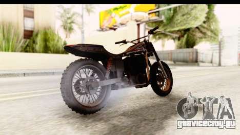 GTA 5 Western Cliffhanger Custom v1 для GTA San Andreas вид сзади слева