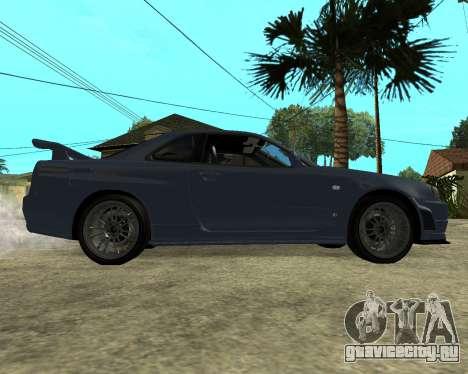 Nissan Skyline Armenia для GTA San Andreas вид сзади