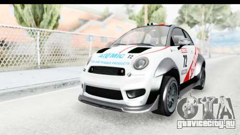 GTA 5 Grotti Brioso RA для GTA San Andreas вид изнутри