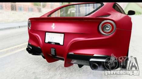 Ferrari F12 Berlinetta 2014 для GTA San Andreas вид сверху