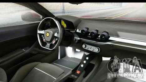 Ferrari F12 Berlinetta 2014 для GTA San Andreas вид сзади