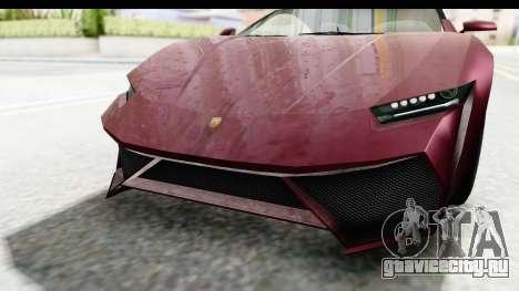 GTA 5 Pegassi Reaper v2 IVF для GTA San Andreas вид сверху