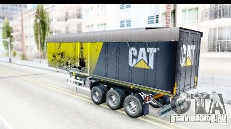 Trailer Caterpillar для GTA San Andreas вид сзади слева