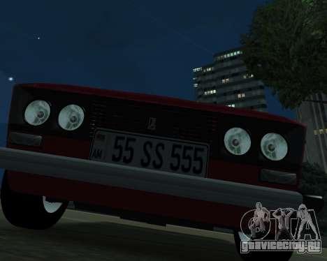 ВАЗ 2106 Armenian для GTA San Andreas вид сзади слева