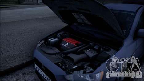 Mitsubishi Lancer GVR для GTA San Andreas вид справа
