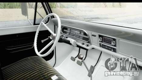 Ford F-350 Farm Truck 1970 для GTA San Andreas вид изнутри