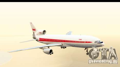 Lockheed L-1011-100 TriStar Trans World Airlines для GTA San Andreas