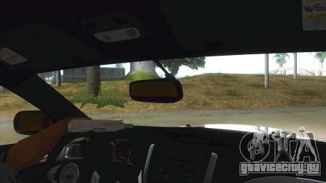 2008 Subaru WRX Widebody L3D для GTA San Andreas вид изнутри