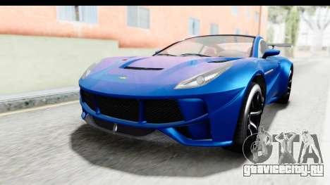GTA 5 Dewbauchee Seven 70 для GTA San Andreas вид справа