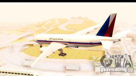 Boeing 777-200LR Philippine Airline Retro Livery для GTA San Andreas вид слева