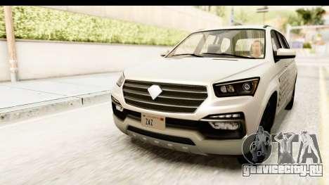 GTA 5 Benefactor XLS SA Style для GTA San Andreas вид снизу