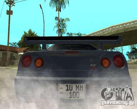 Nissan Skyline Armenia для GTA San Andreas вид сзади слева