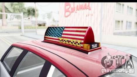 GTA 5 Canis Seminole Downtown Cab Co. Taxi для GTA San Andreas вид изнутри