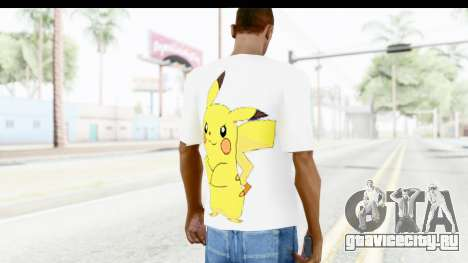 T-Shirt Pokemon Go Pikachu для GTA San Andreas второй скриншот