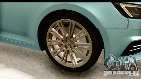 Audi A4 TFSI Quattro 2017 для GTA San Andreas вид сзади