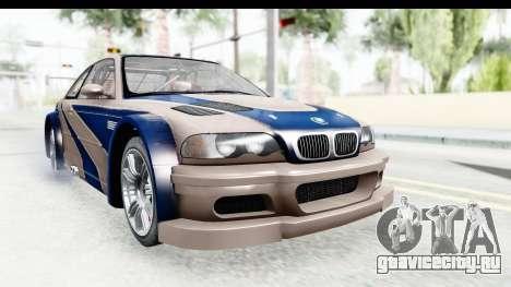 NFS Carbon - BMW M3 GTR для GTA San Andreas вид сзади слева